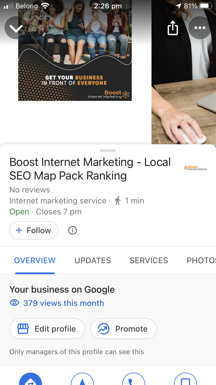 Google My Business - Boost Internet Marketing
